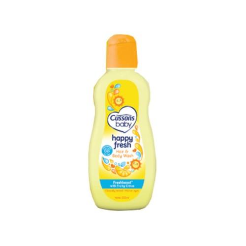 Foto Produk Cussons Baby Hair & Body Wash Happy Fresh 200Ml dari Raffardhan olshop
