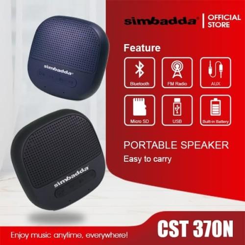 Foto Produk Speaker Bluetooth Simbadda CST 370N - Mini Portable - Hitam dari Simbadda Official
