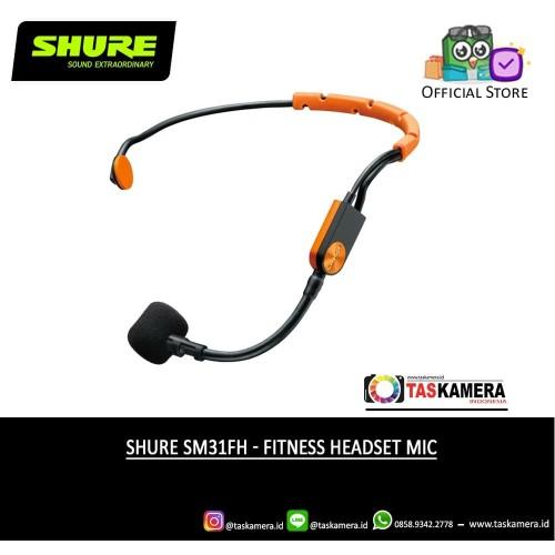 Foto Produk SHURE SM31FH TQG Fitness Headset Condenser Microphone - SHURE Mic dari taskamera-id