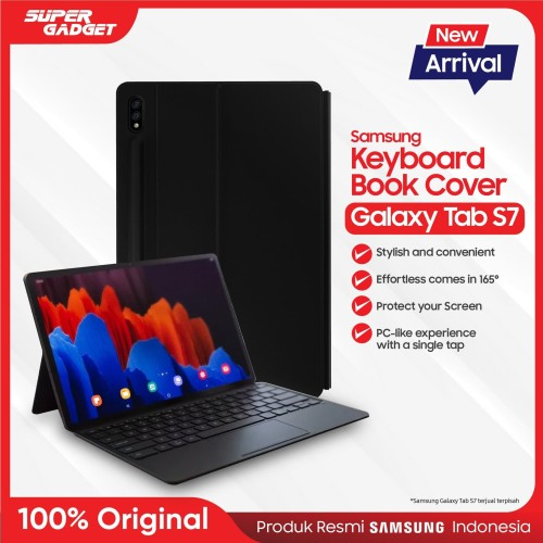 Foto Produk Keyboard Book Cover Samsung Galaxy Tab S7 - Original - Hitam dari SUPER_GADGET