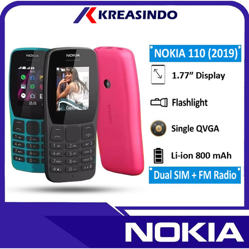 Foto Produk Nokia 110 2019 Dual sim Garansi Resmi - Biru dari Kreasindo Online