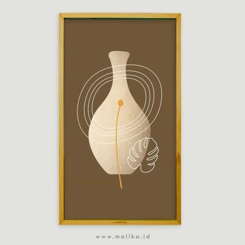 Foto Produk Poster Brown Pots Boho Desain Minimalis Dekorasi Kamar dari malikawallart