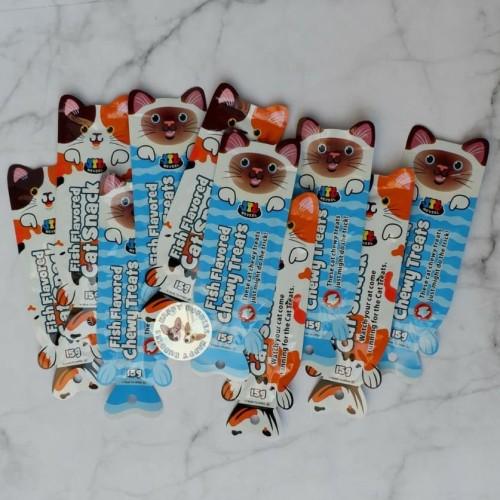 Foto Produk Meveel Cat Treats/ Snack Kucing/ Cemilan Kucing Single - Salmon Stick dari Happy Buddies