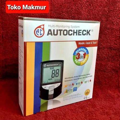 Foto Produk AUTOCHECK alat test Gula darah, Kolesterol dan Asam Urat. dari Toko makmur glodok