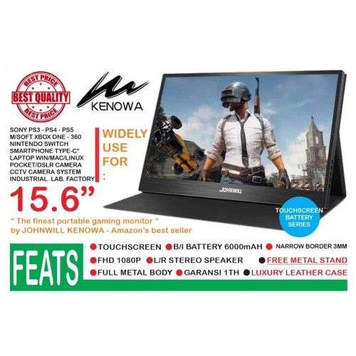 Foto Produk Portable Monitor 15.6 Inch USB-C - Full HD - IPS PANEL KENOWA K15 dari EtalaseBelanja