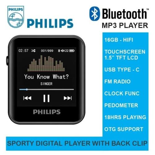Foto Produk BLUETOOTH MP3 PLAYER 16GB HIFI SPORTY WITH BACK CLIP - PHILIPS SA6116 dari EtalaseBelanja