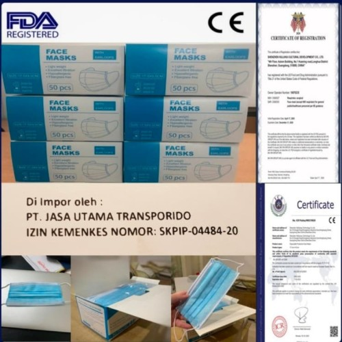 Foto Produk Masker Disposable protective mask 3 ply China seperti masker sensi 3M dari Coolpad Health