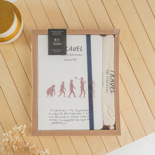 Foto Produk UCHII A5 RYOSHI Notebook Gift Box Drawstring Bag Buku Tulis Memo Paket - Human dari uchii store