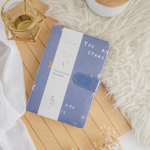Foto Produk UCHII GIDAI Journal Book Agenda Planner   Buku Catatan Memo Full Color - Blue Star dari uchii store