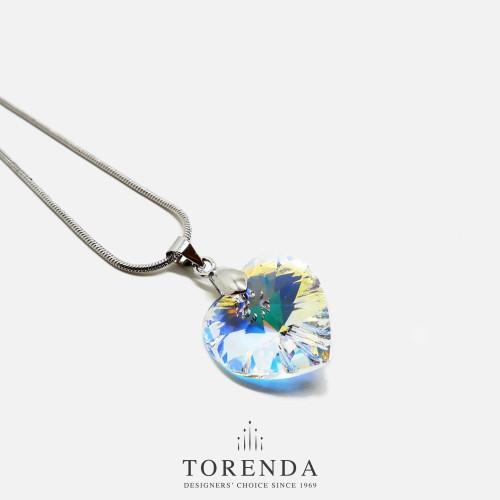 Foto Produk Torenda Kalung Liontin Love Pendant with Swarovski - Crystal - 18x7 mm dari TORENDA