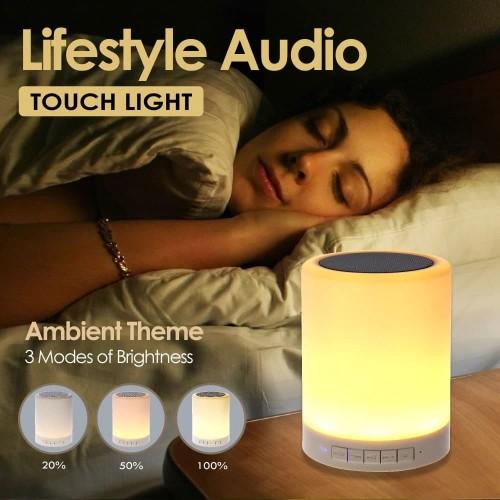 Foto Produk Speaker Bluetooth Lampu Tidur Touch Lamp Model Sentuh Multifungsi dari Unitech Official