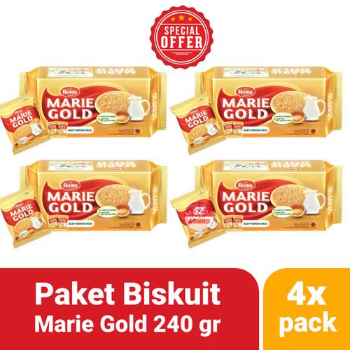 Foto Produk Paket Hemat - 4x Biskuit Roma Marie Gold 240 gr - Family Pack Bundle dari SZ Konko