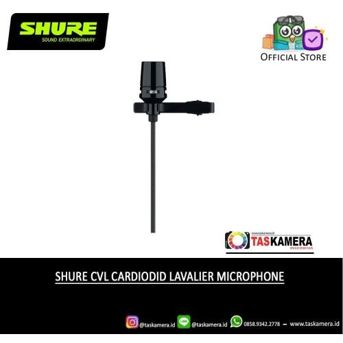 Foto Produk SHURE CVL Centraverse Cardioid Lavalier Microphone - SHURE Microphone dari taskamera-id