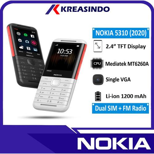 Foto Produk Nokia 5310 2020 Garansi Resmi TAM - Hitam dari Kreasindo Online