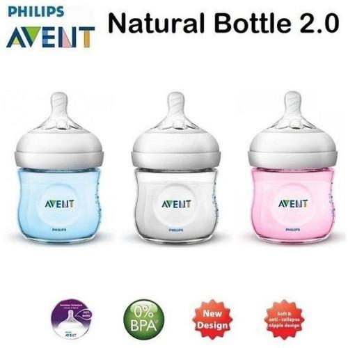 Foto Produk Philips Avent Bottle Natural 125ml White Botol Susu Bayi - Putih dari GoldenBaby