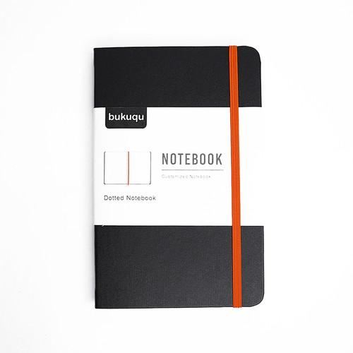 Foto Produk Classic Notebook #Leather - Bullet Journal by Bukuqu - Hitam Orange, polos dari Bukuqu