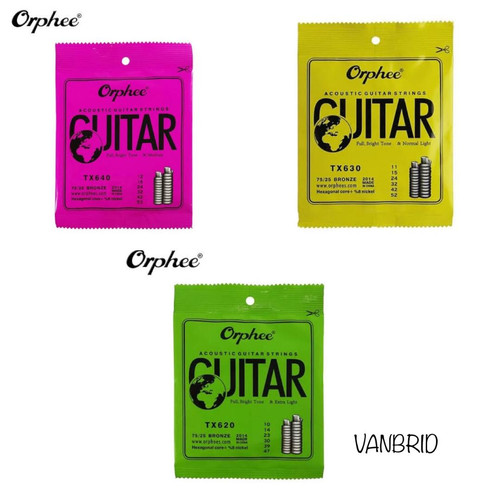 Foto Produk Senar Gitar Akustik Orphee Original TX620 TX630 TX640 - TX620 dari Vanbrid