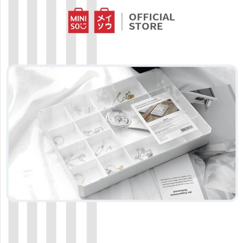 Foto Produk MINISO Kotak Penyimpanan Serbaguna Tempat Makeup Organizer Perhiasan dari Miniso Indonesia