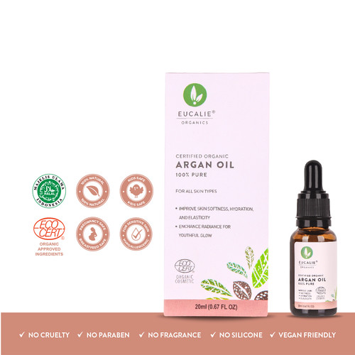 Foto Produk ARGAN Oil Certified Organic Anti Aging Serum Eucalie dari eucalie