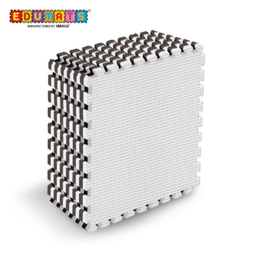 Foto Produk IMAGE TOYS edumat karpet matras evamat puzzle tikar Black White [8Lbr] - Putih dari Image Toys