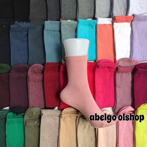 Foto Produk kaos Kaki panjang wanita/kaos kaki polos warna panjang dari abelgo olshop