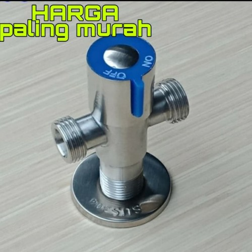 Foto Produk stop kran air cabang/ stop kran T/stop kran Tee stainless sus 304 dari TK CAHAYA REZEKI