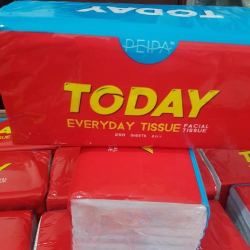Foto Produk tisu murah / tisu today / tissue facial / 250 sheet 2 ply dari Dio Plastik
