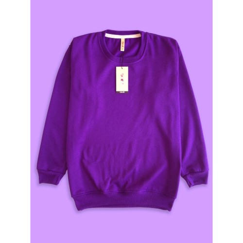 Foto Produk Sweater Premium CAMOE Original Basic Polos Warna Ungu / Purple dari Importir Polyflex