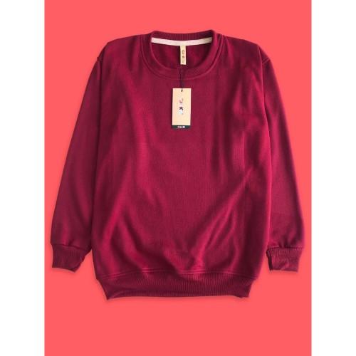 Foto Produk Sweater Premium CAMOE Original Basic Polos Warna Maroon / Merah marun dari Importir Polyflex