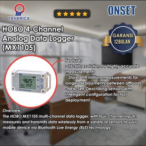Foto Produk Data Logger 4 Channel Analog HOBO MX1105 dari Raya Stock