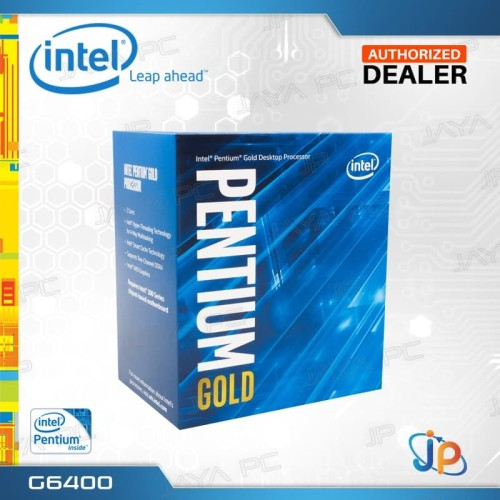 Foto Produk Processor Intel Pentium Gold G6400 Box Coffee Lake Socket LGA 1151 dari Jaya PC