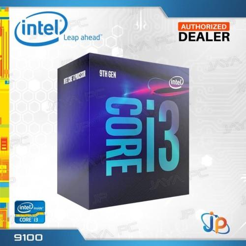 Foto Produk Processor Intel Core I3 9100 Box Coffee Lake Socket LGA 1151 dari Jaya PC