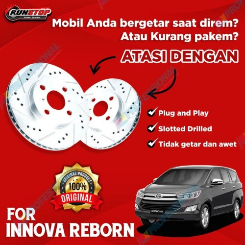 Foto Produk Aksesoris Rotor Disc Brake Drilled Slotted RUNSTOP Innova Reborn 15+ dari ULTRA RACING
