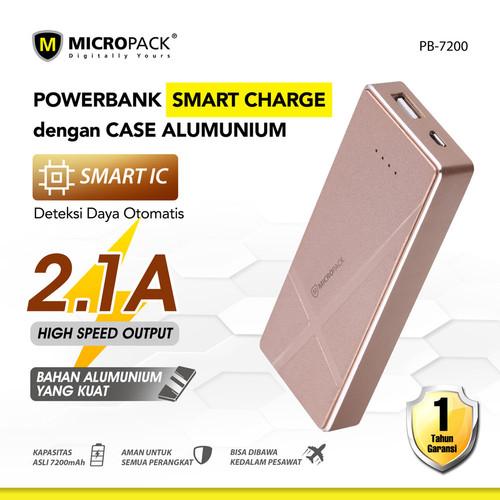 Foto Produk MicroPack Power Bank Li-Polymer 7200 mAh PB-7200 - Merah Muda dari Micropack Official Store