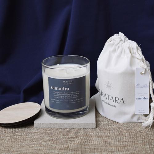 Foto Produk Akatara - Samudra Soywax Scented Candle 350 gr (Lilin Aromaterapi) - 350 gr dari AkataraHome