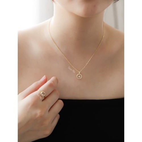 Foto Produk Dear Me - Serena Necklace (925 Sterling Silver & 18K Gold Plating) dari Dear Me Jewelry