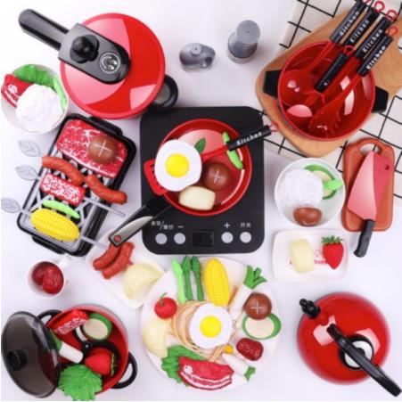 Foto Produk Kids Home Kitchen Play Set Mainan Anak Masak Masak 36 PCS - Merah dari Vespa Veloce