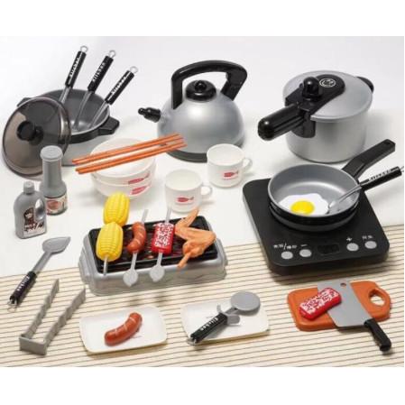 Foto Produk Kids Home Kitchen Play Set Mainan Anak Masak Masak 36 PCS - Hitam dari Vespa Veloce