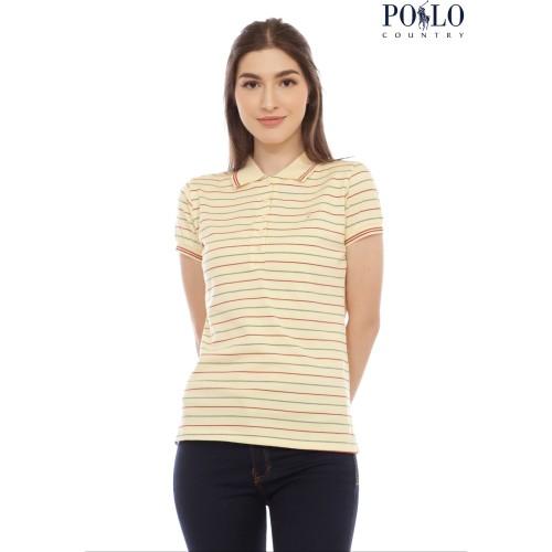 Foto Produk [POLO COUNTRY] POLO SHIRT STRIPE / SALUR WANITA - 4288 - Kuning, XL dari Polo Country Indonesia
