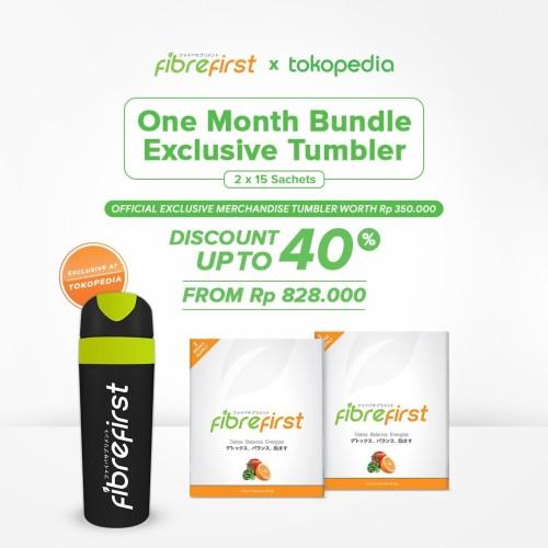 Foto Produk FibreFirst X Tokopedia One Month Bundle Exclusive Tumbler dari FibreFirst Official