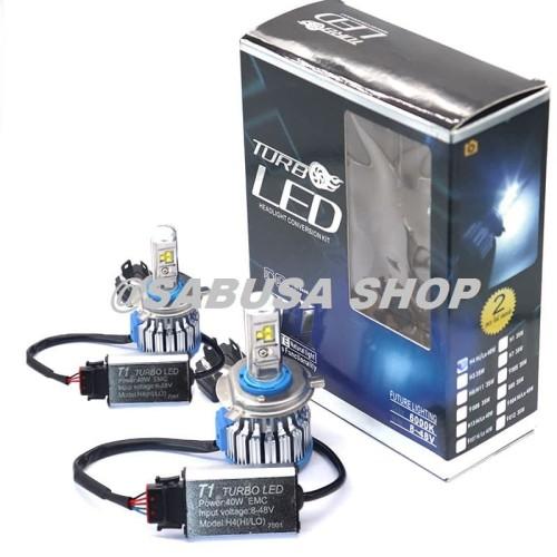 Foto Produk Lampu Headlamp Mobil LED Turbo T1 H4 6000K Canbus Hi Lo ORIGINAL 2Pcs dari Sabusa shop