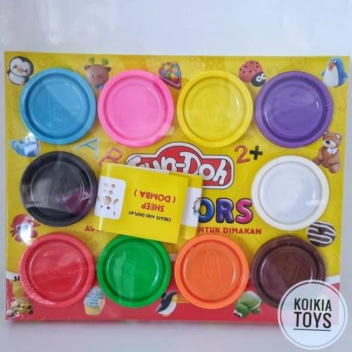 Foto Produk Mainan edukasi fun doh isi 10 play dough dari Koikia Toys