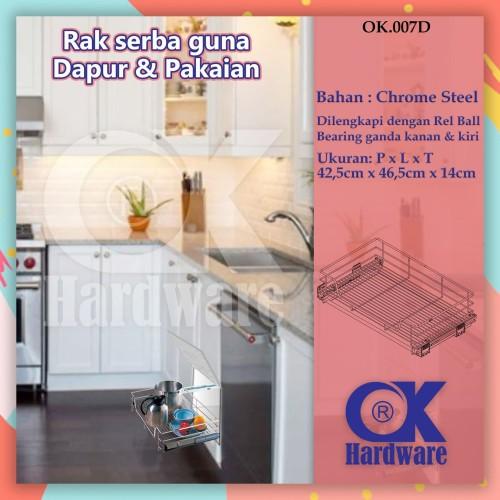 Foto Produk Rak Panci Piring Mangkok Tarik OK 007 D for Kitchen Set Cabinet 50 cm dari WINSTON SUKSES ABADI
