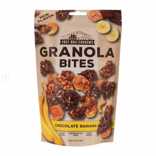 Foto Produk East Bali Cashews Granola Bites Chocolate Banana 125gr dari Alora Essential
