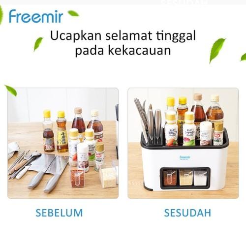 Foto Produk freemir Rak Bumbu Dapur Portable Serbaguna 4 laci Organizer dari freemir Official Store