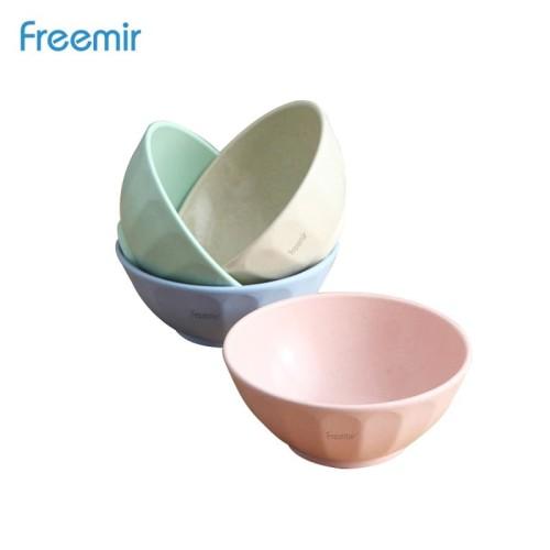 Foto Produk freemir Mangkuk Soup Plate Wheatstraw Bowl Tahan Panas Mix Warni 4 Pcs dari freemir Official Store
