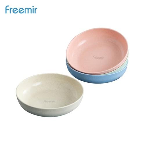 Foto Produk freemir Piring Wheatstraw Round Plate BPA free Warna Warni set 4 Pcs dari freemir Official Store