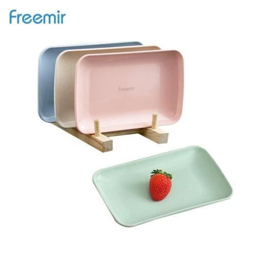 Foto Produk freemir Piring Makan Bentuk Kotak Wheat Straw Square Plate Warna Warni dari freemir Official Store