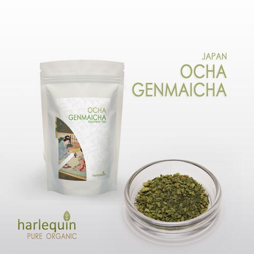 Foto Produk Ocha Genmaicha Japan 60 Gram Teh Ocha Genmaicha Jepang dari Harlequin Herb