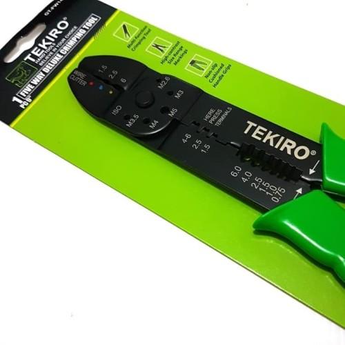"""Foto Produk Tekiro Five way deluxe crimping tool 9"""" / tang skun / tang crimping dari mitra perkakas"""